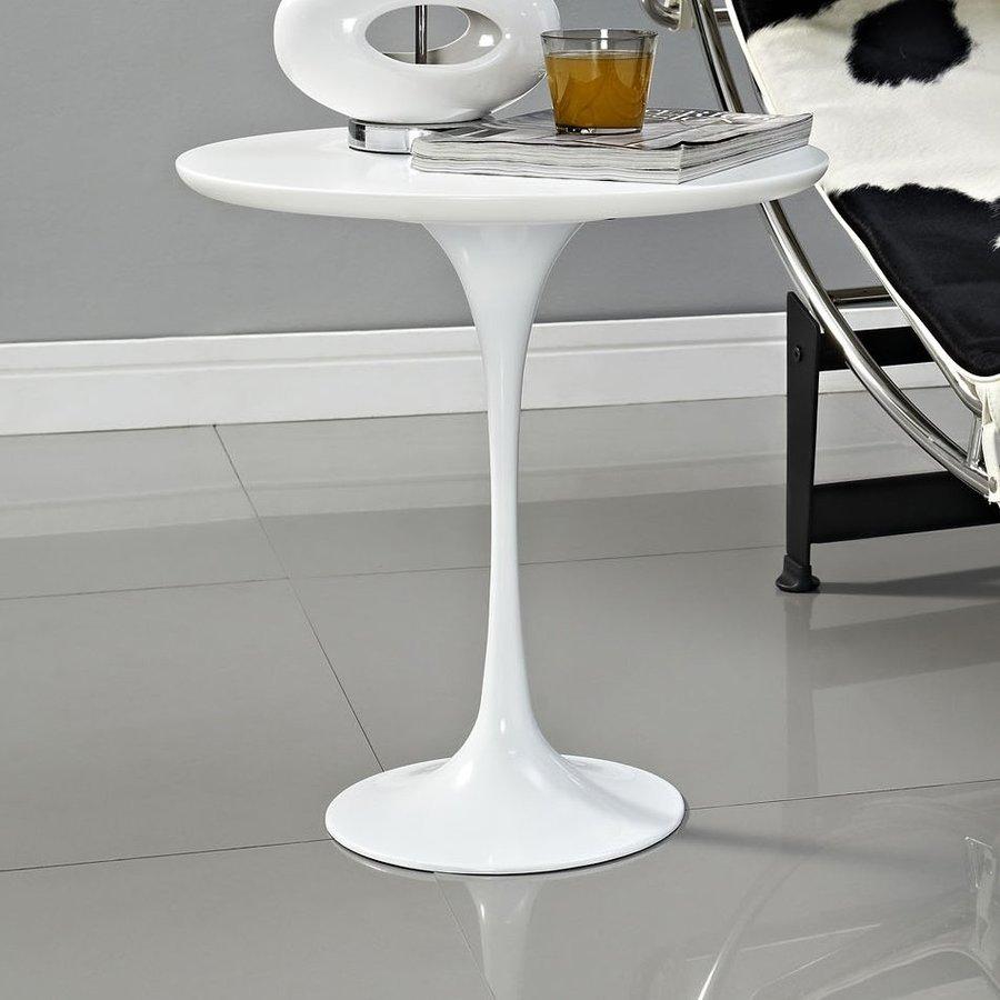 Modway Lippa Gloss White Round End Table