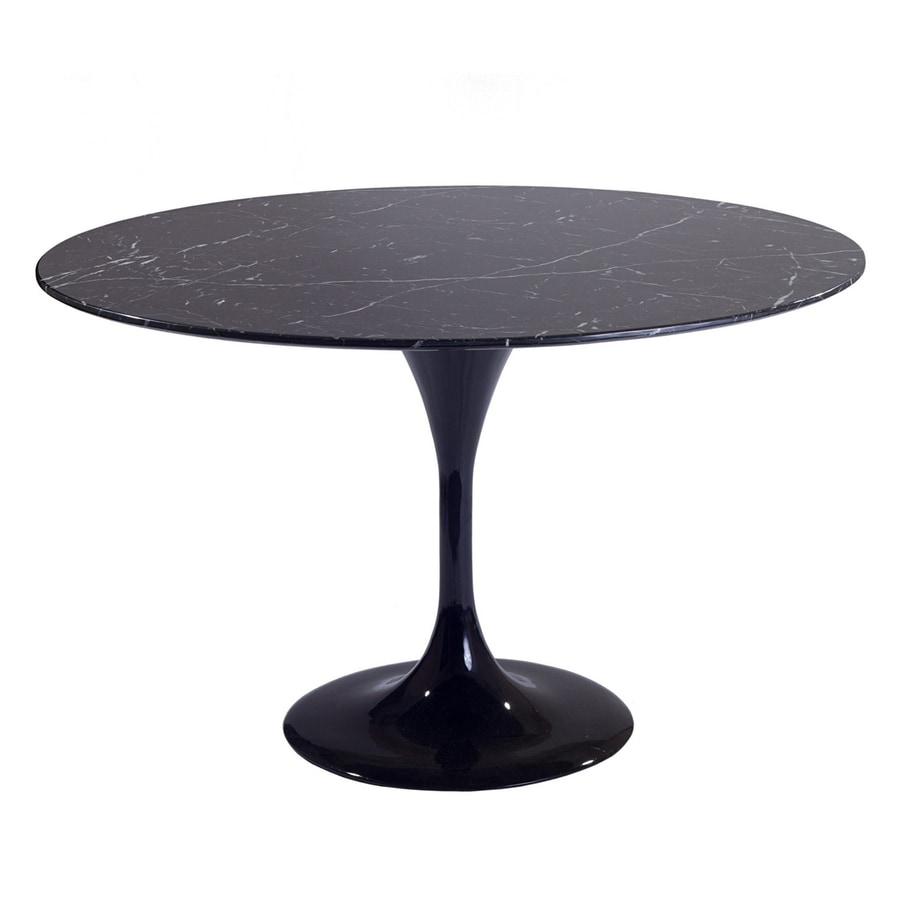 Shop modway lippa black round dining table at for Black dining table