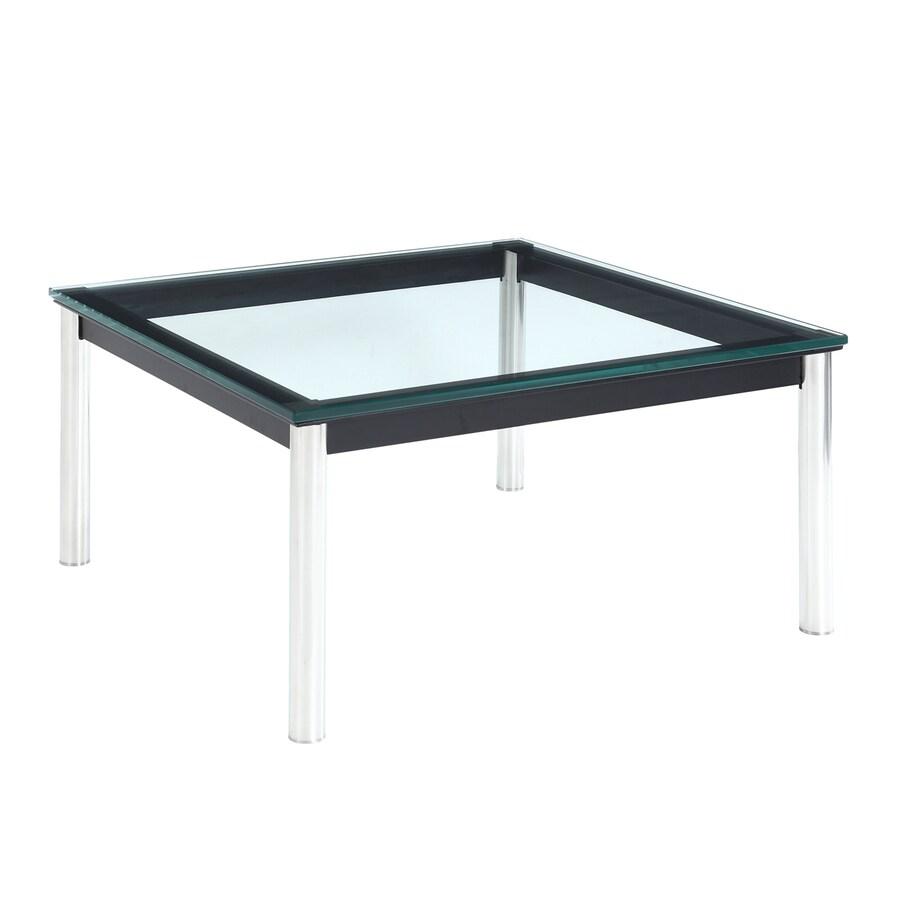Modway Le Corbusier Black/Silver Square End Table