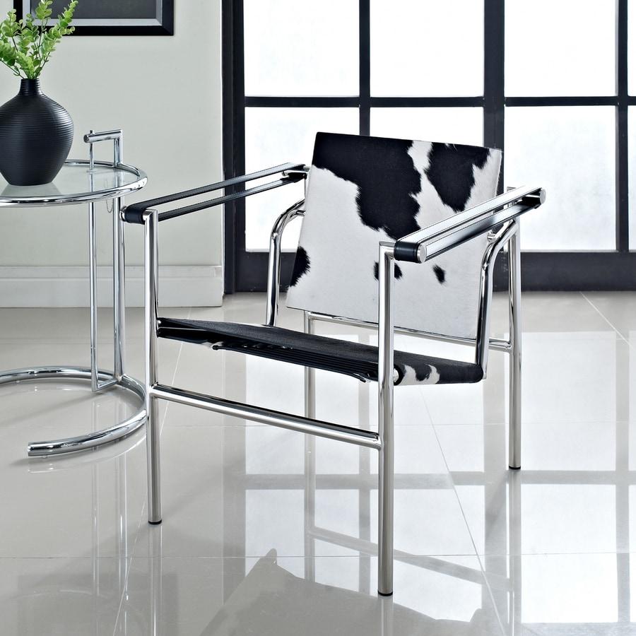 Modway Le Corbusier Black/White Accent Chair