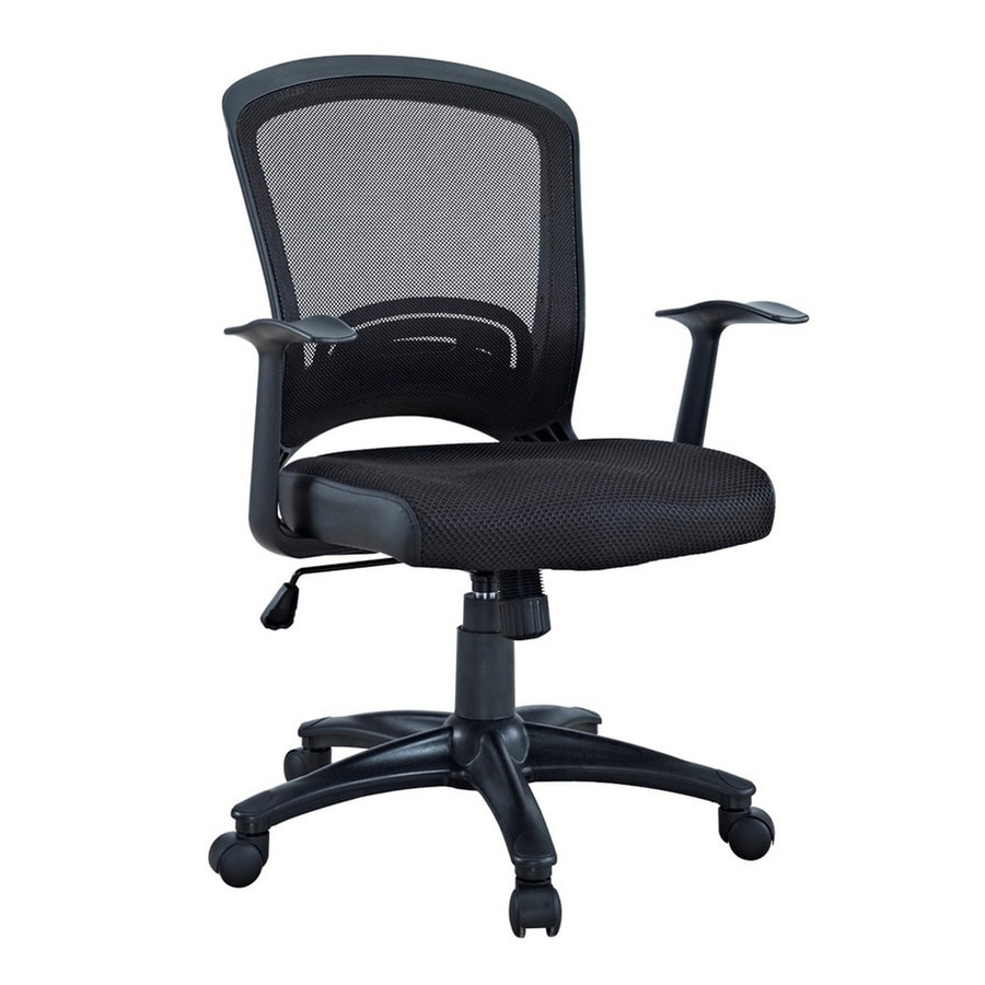 Shop Modway Pulse Black Mesh Task Office Chair At Lowes Com