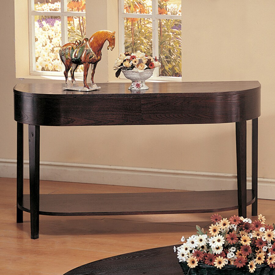 Coaster Fine Furniture Gough Cappuccino Half-Round Console and Sofa Table