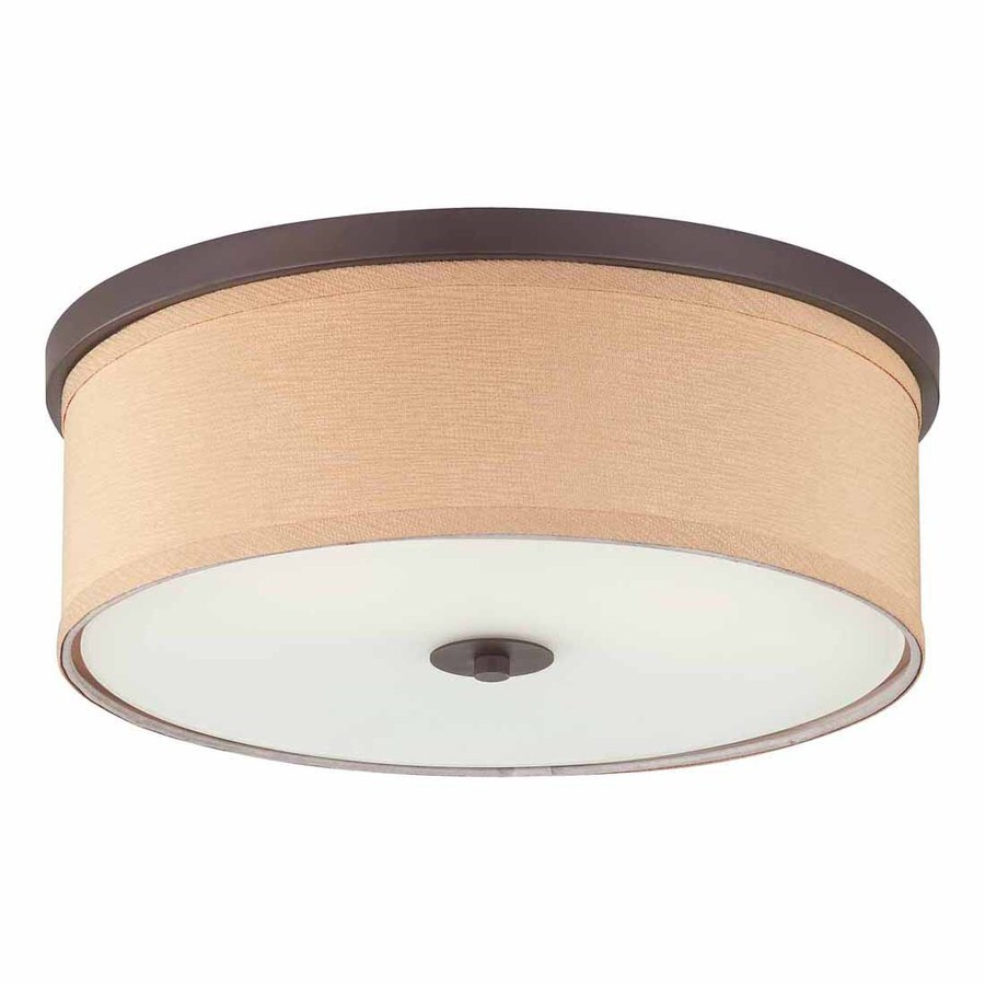 Volume International Esprit 16-in W Antique Bronze Ceiling Flush Mount Light