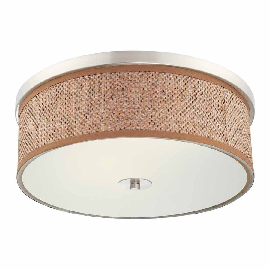 Volume International Esprit 20-in W Brushed Nickel Ceiling Flush Mount Light
