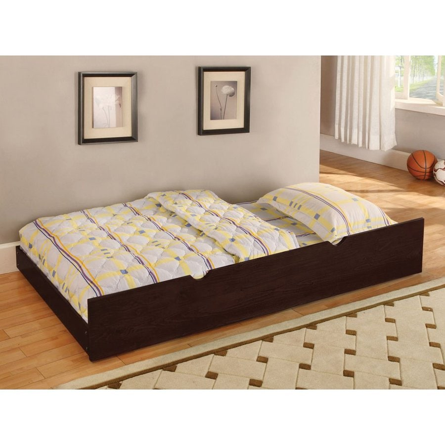 Shop Furniture Of America Omnus Dark Walnut Twin Trundle Bed At