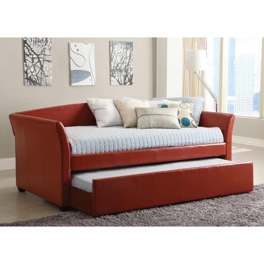 Shop furniture of america delmar red twin daybed with Twin bed with mattress included