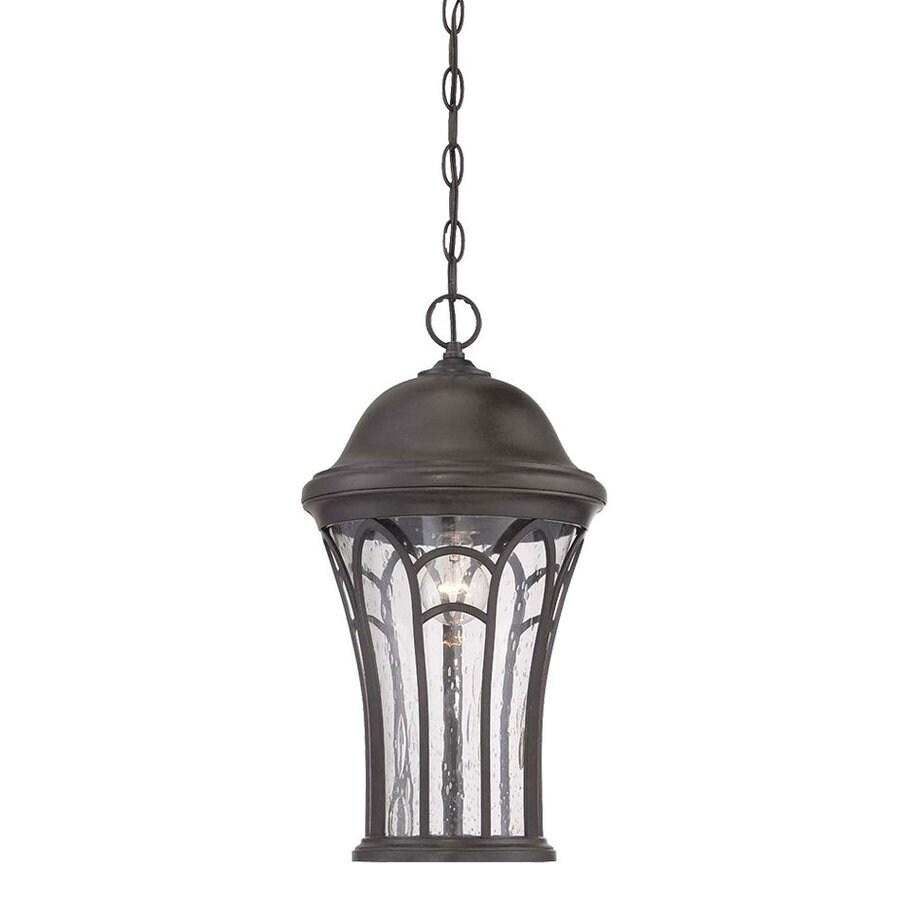 Acclaim Lighting Highgate 19.12-in H Black Coral Outdoor Pendant Light
