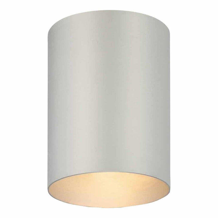 Volume International 5-in W Silver Grey Outdoor Flush-Mount Light