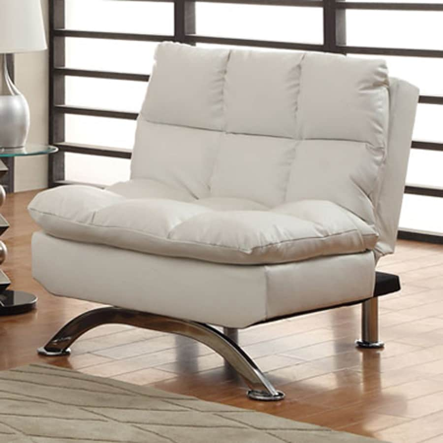 Shop furniture of america aristo white futon at for Furniture of america