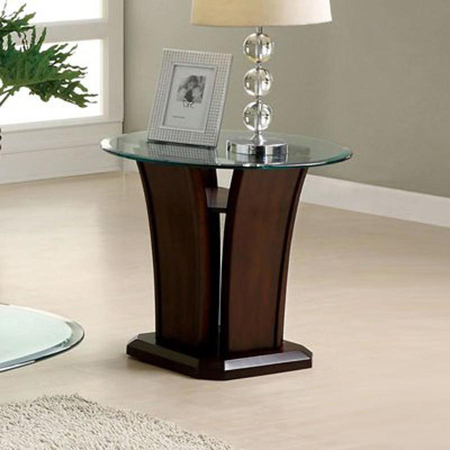 Furniture of America Manhattan IV Dark Cherry (Composite) Round End Table