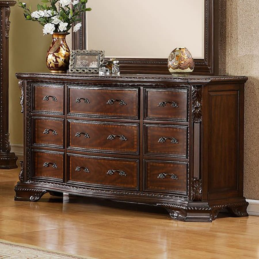 Furniture of America South Yorkshire Brown Cherry 9-Drawer Dresser