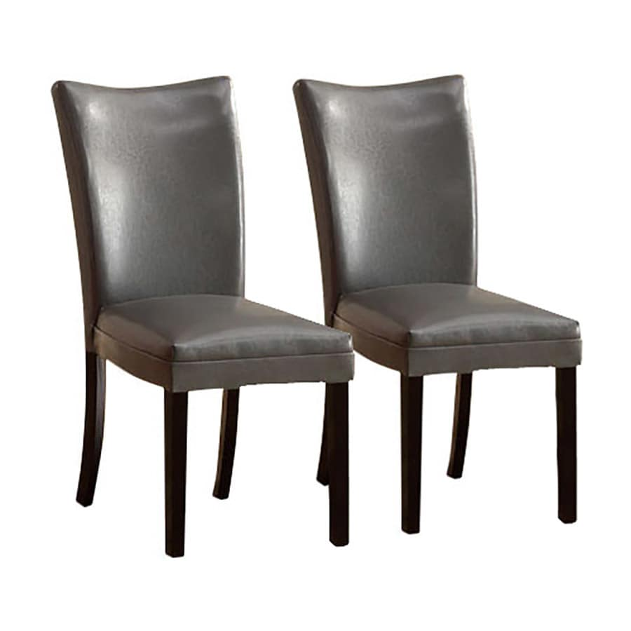 Furniture of America Set of 2 Lamia Gray Side Chairs