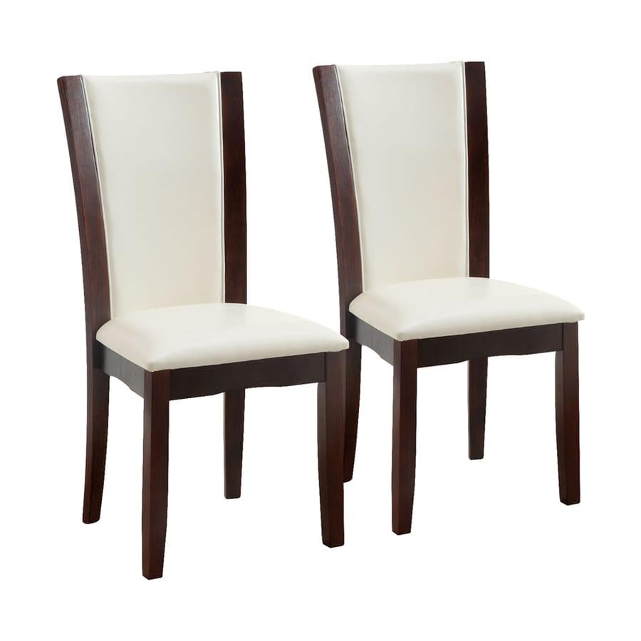 Furniture of America Set of 2 Manhattan Dark Cherry Side Chairs