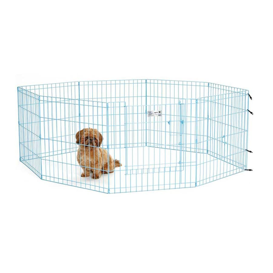 midwest pets Life Stages 24-in x 24-in Blue Metal Indoor/Outdoor Exercise Pen