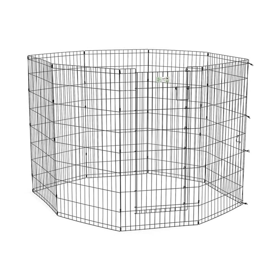 midwest pets Life Stages 42-in x 24-in Black Metal Indoor/Outdoor Exercise Pen