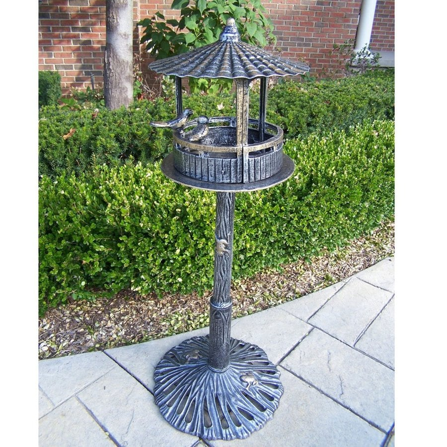 Oakland Living 16-in W x 41-in H x 16-in D Antique Pewter Bird House