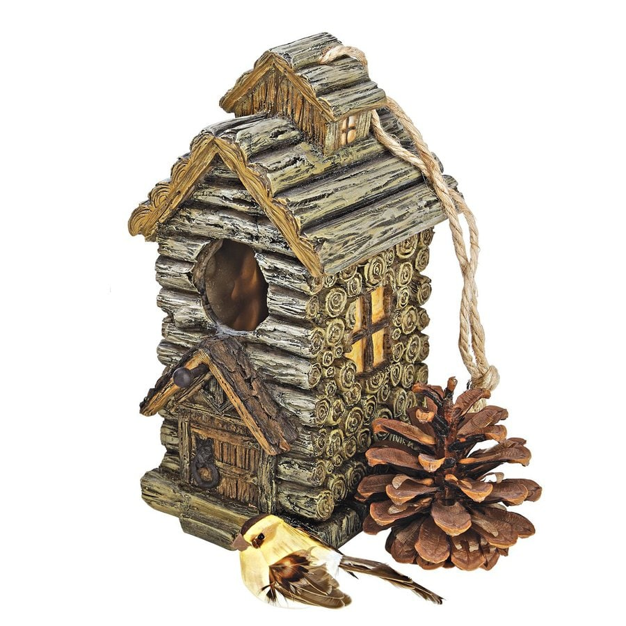 Design Toscano 5.5-in W x 8-in H x 4-in D Wood Tone Bird House