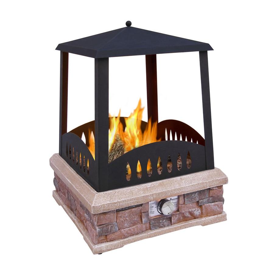 38 000 BTU Black Steel Outdoor Liquid Propane Fireplace At