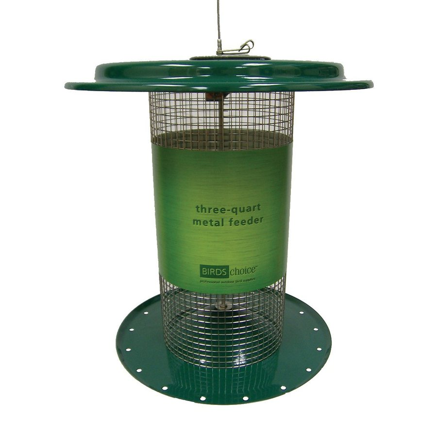 Birds Choice Sunflower Steel 3-Quart Tube Bird Feeder