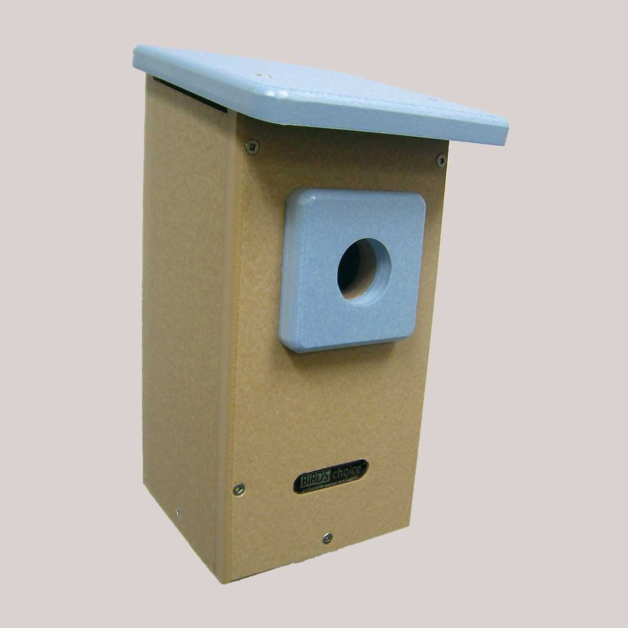 Birds Choice 8-in W x 12.62-in H x 6.62-in D Taupe Bird House