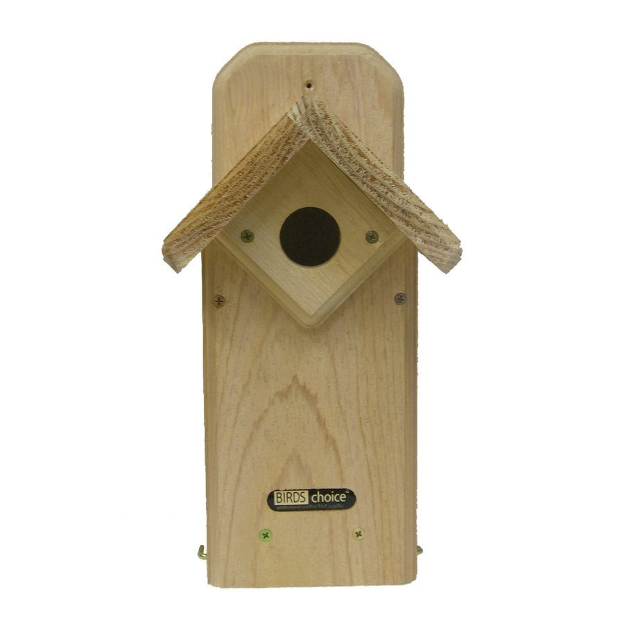 Birds Choice 7.25-in W x 14-in H x 7-in D Natural Bird House