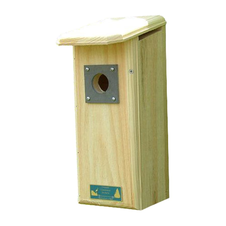 Coveside Conservation 6-in W x 15.5-in H x 8.5-in D Unfinished Pine Bird House