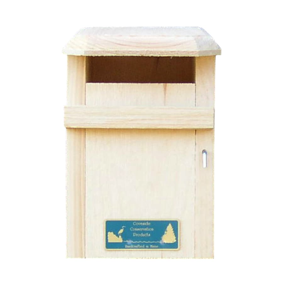 Coveside Conservation 6.25-in W x 10-in H x 8.25-in D Unfinished Pine Bird House