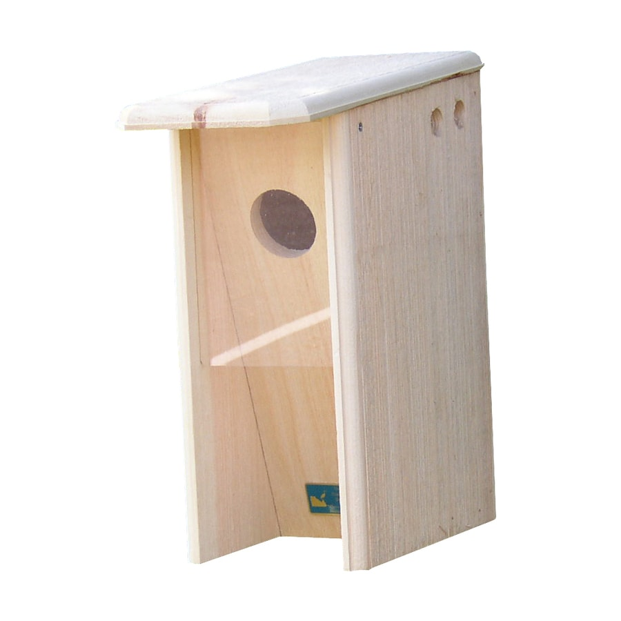 Coveside Conservation 7.5-in W x 17-in H x 15-in D Unfinished Pine Bird House