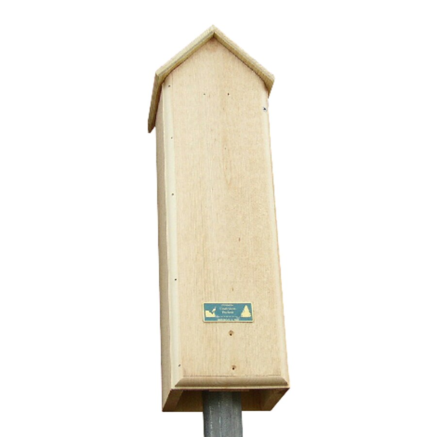 Coveside Conservation 8-in W x 25-in H x 7.5-in D Unfinished Pine Wood Bat House