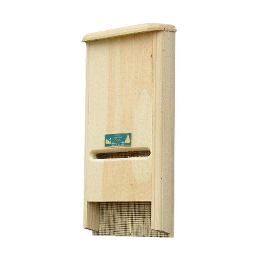 Coveside Conservation 8-in W x 19.5-in H x 4-in D Unfinished Pine Wood Bat House