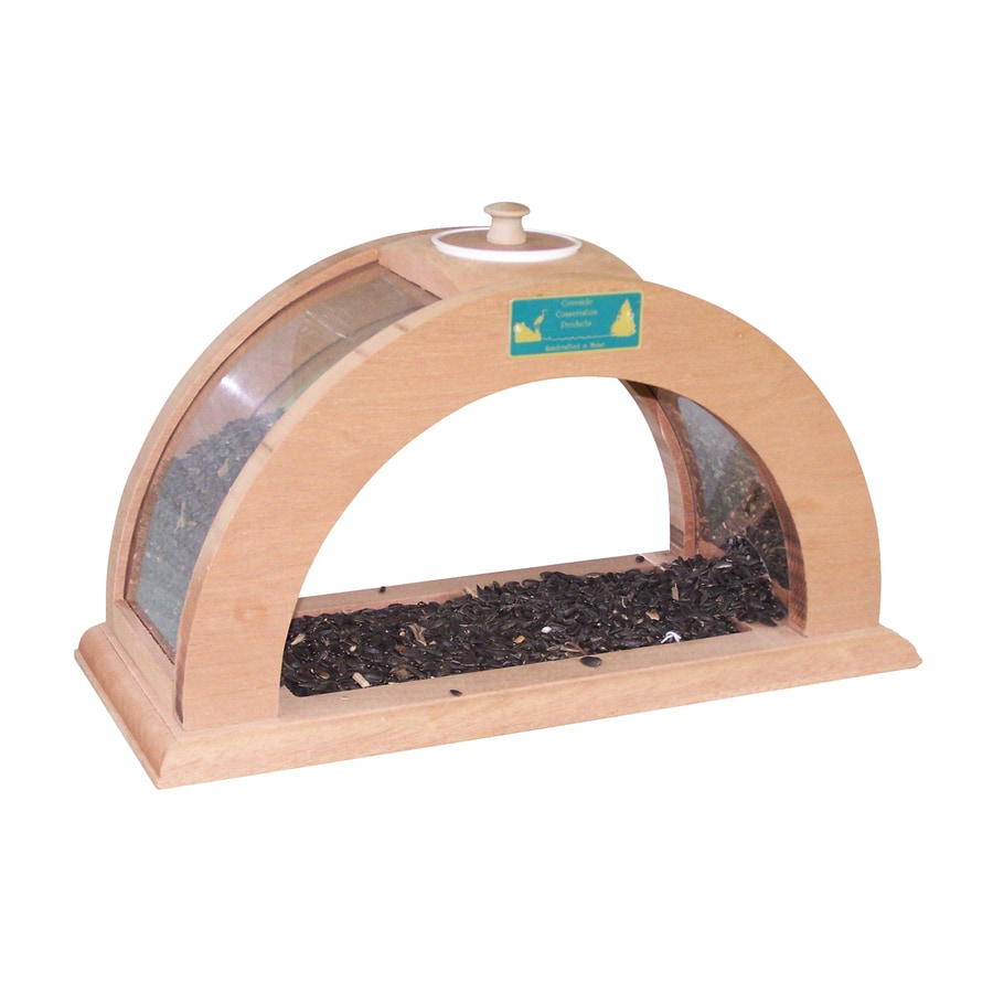 Coveside Conservation Arched Wood Window Bird Feeder