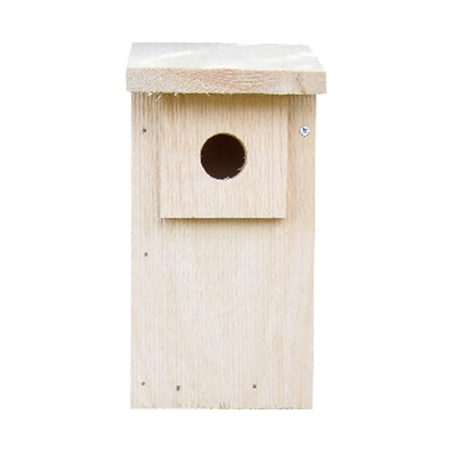 Coveside Conservation 6-in W x 12-in H x 8-in D Unfinished Pine Bird House