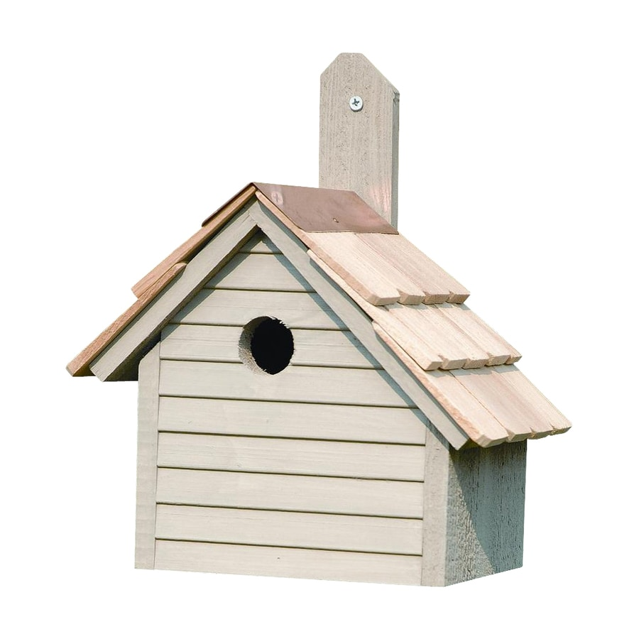 Heartwood 10-in W x 12-in H x 6-in D Smoke Grey Bird House