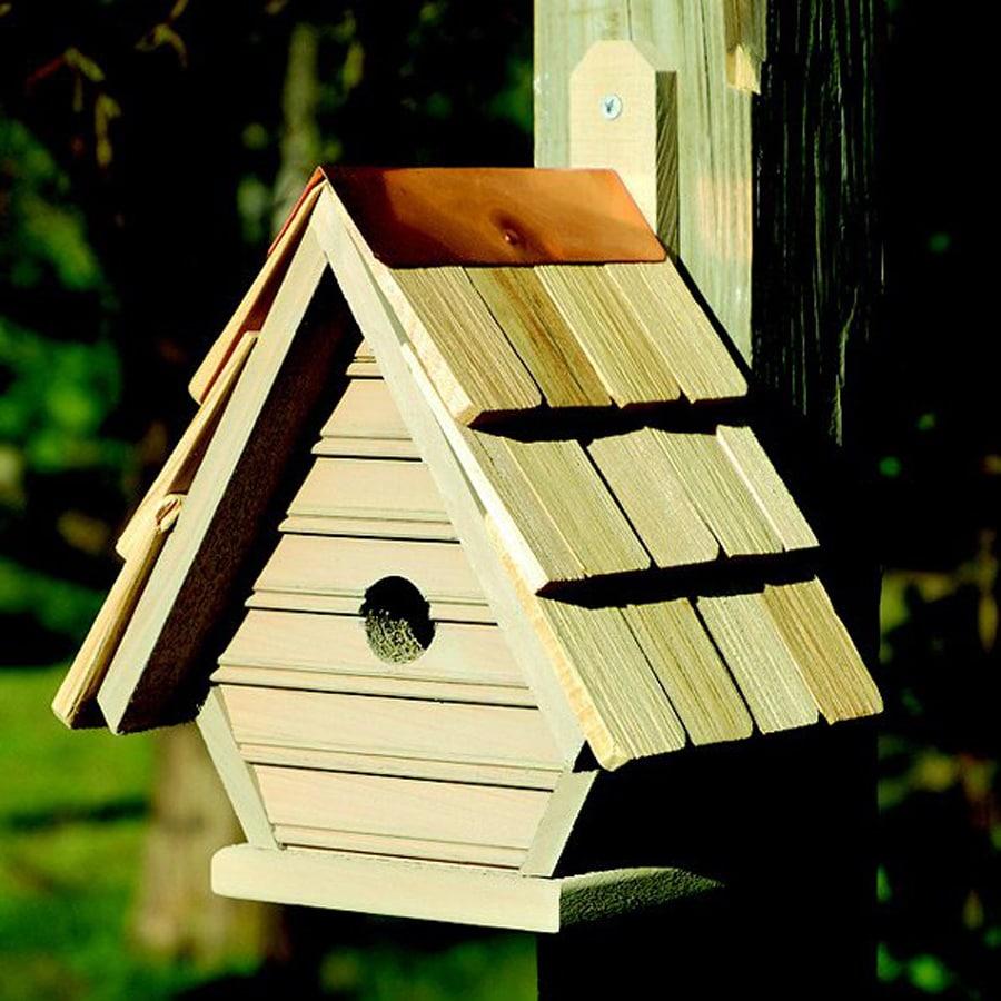 Heartwood 8-in W x 12-in H x 6-in D Smoke Grey Bird House