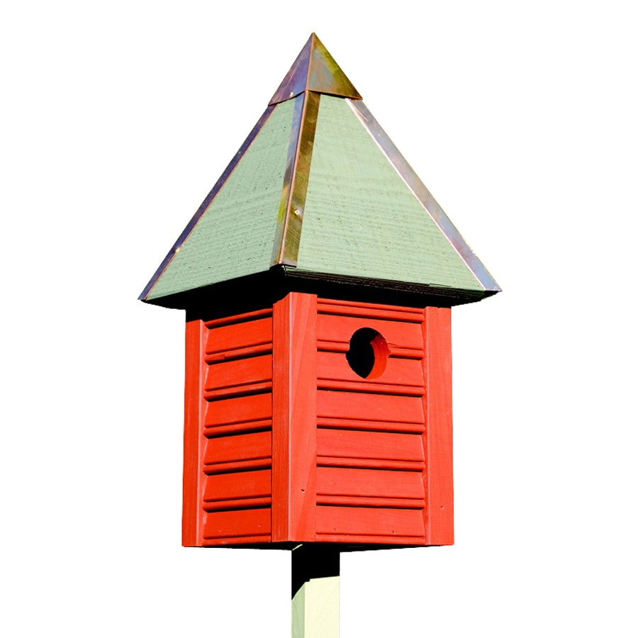 Heartwood 7-in W x 15-in H x 7-in D Redwood Bird House