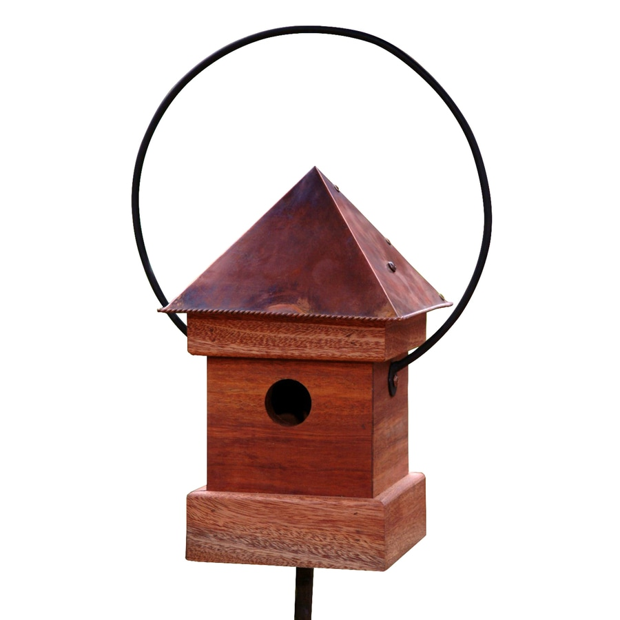 Heartwood 8-in W x 16-in H x 8-in D Oiled Mahogany Bird House