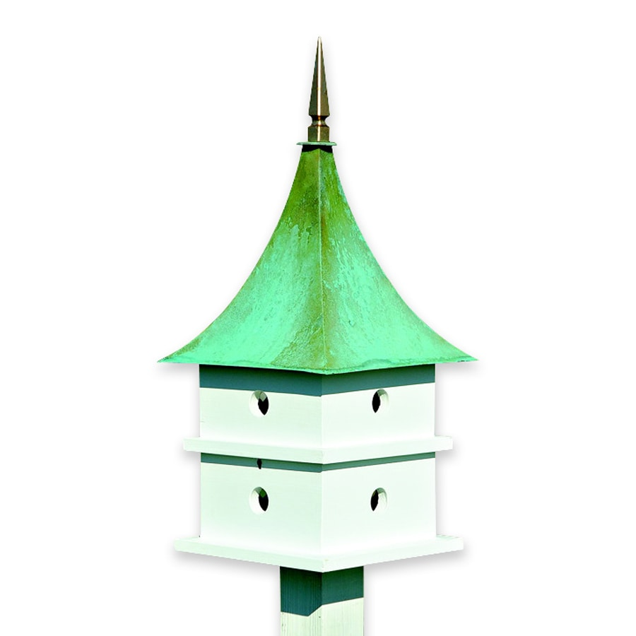 Heartwood 12-in W x 31-in H x 12-in D White Bird House