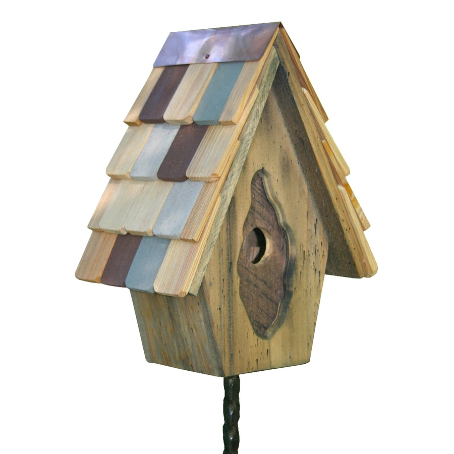 Heartwood 8-in W x 11-in H x 6-in D Natural Bird House