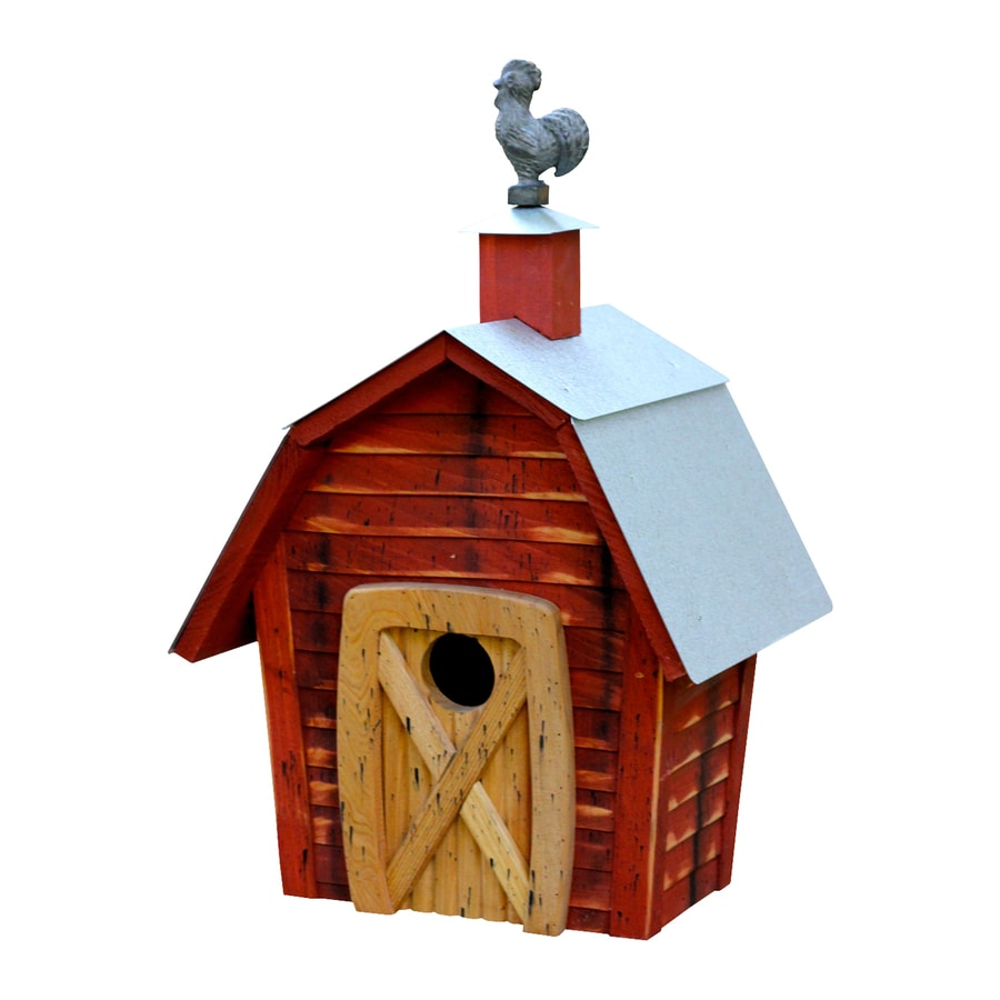 Heartwood 11-in W x 17-in H x 8-in D Redwood Bird House
