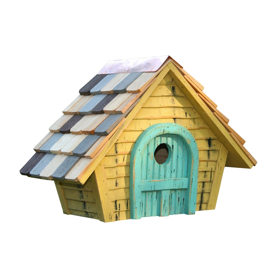 Heartwood 15-in W x 11-in H x 8-in D Yellow Bird House