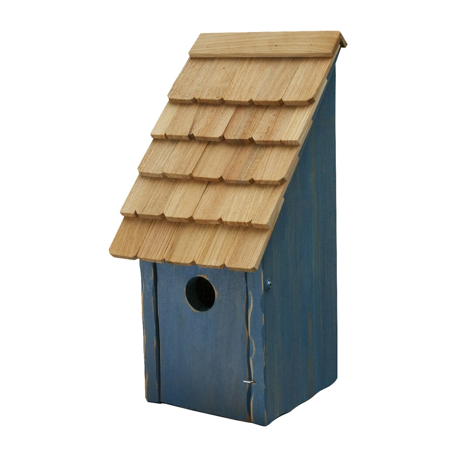Heartwood 8-in W x 16-in H x 8-in D Blue Bird House