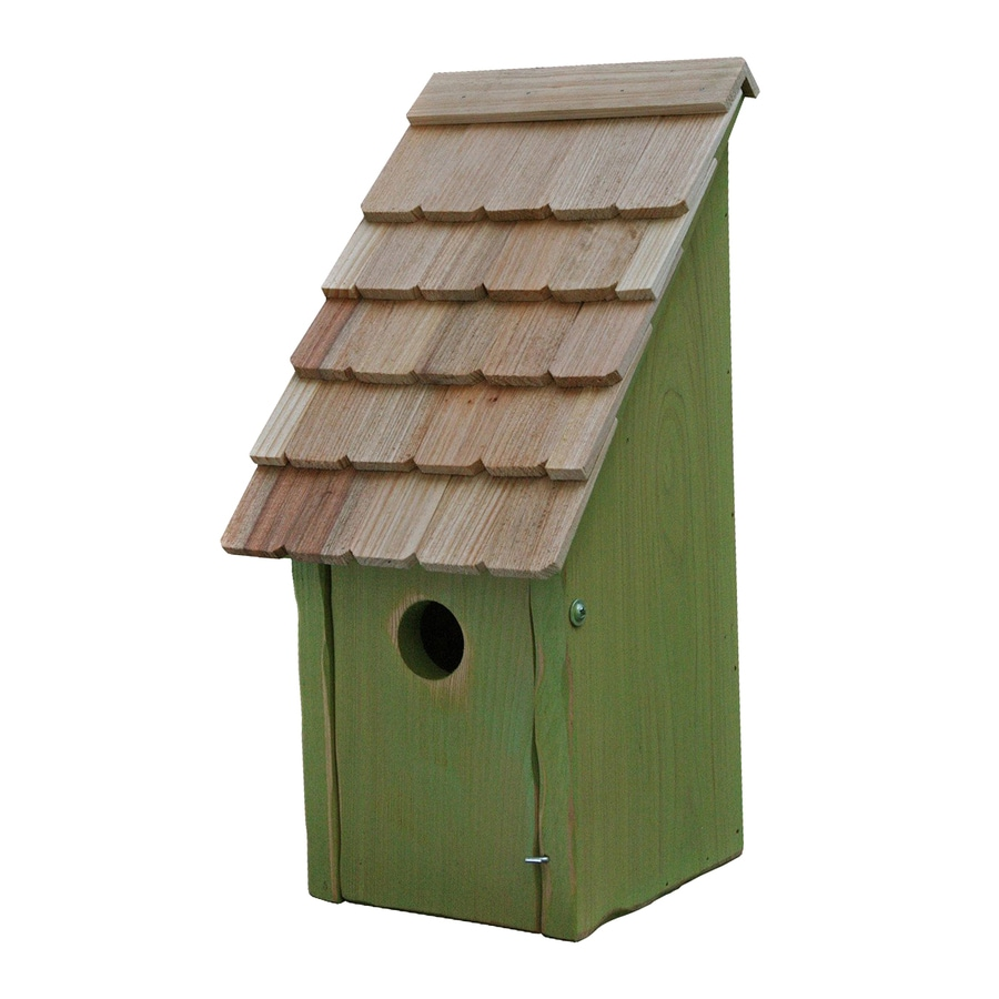Heartwood 8-in W x 16-in H x 8-in D Green Apple Bird House