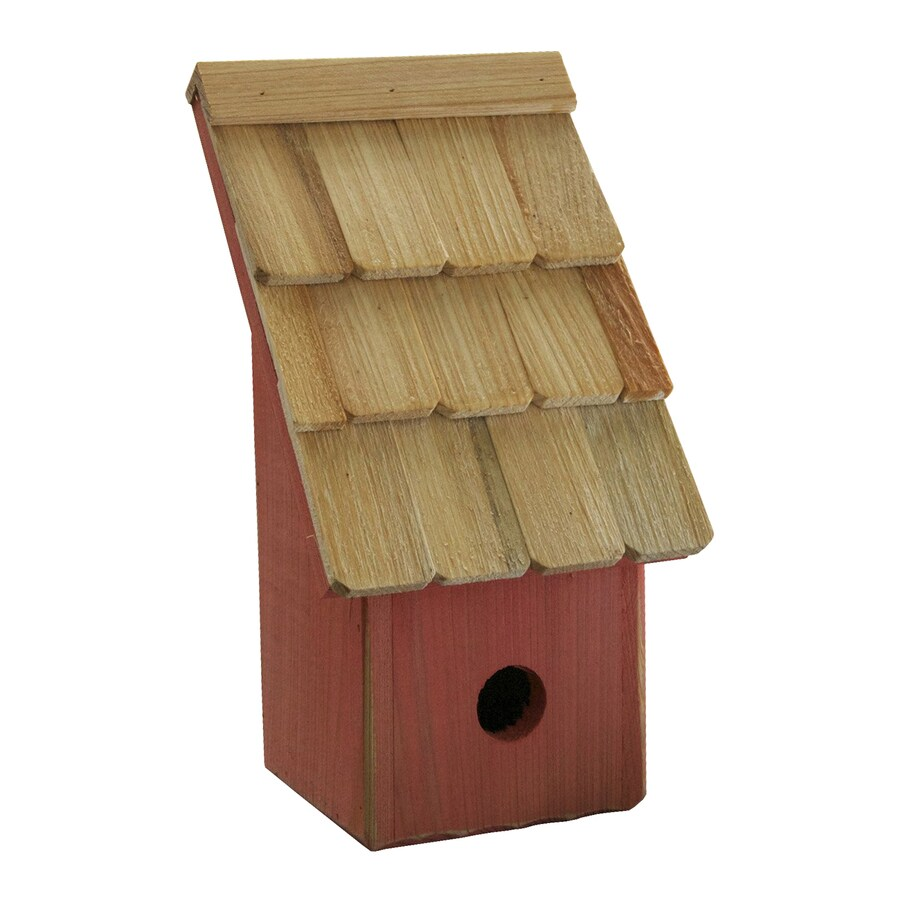 Heartwood 6-in W x 11-in H x 5-in D Mango Bird House