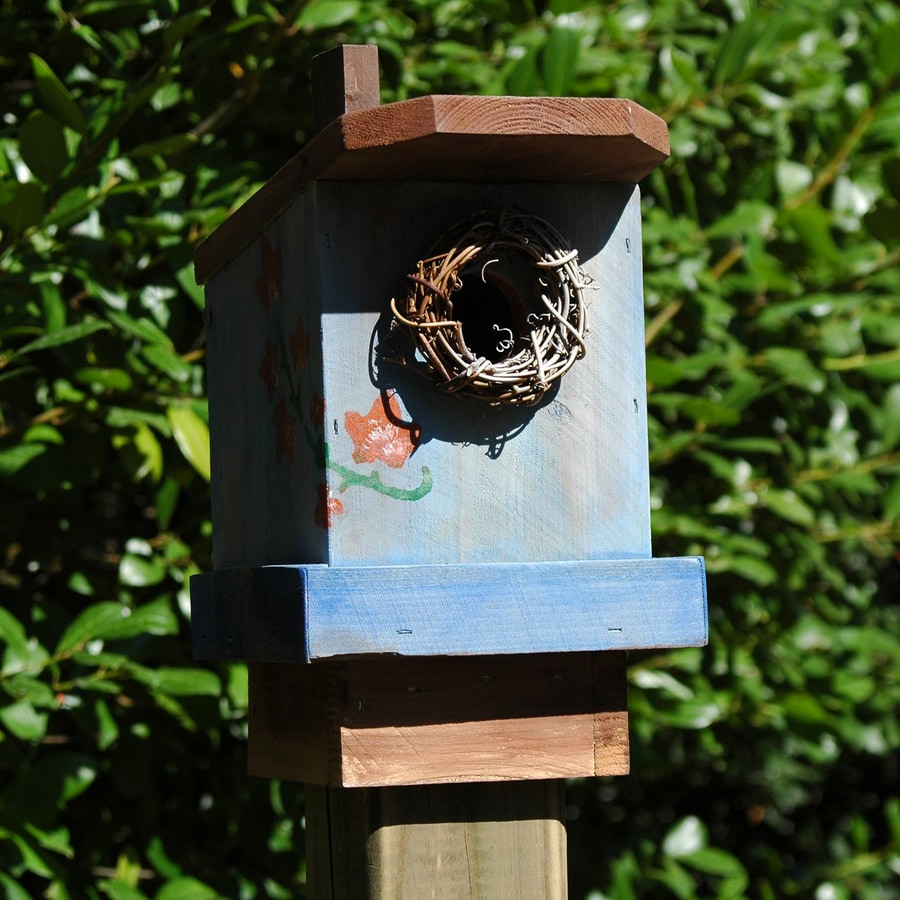 Wilderness Series Products 9-in W x 10-in H x 7-in D Blue/Rust Bird House