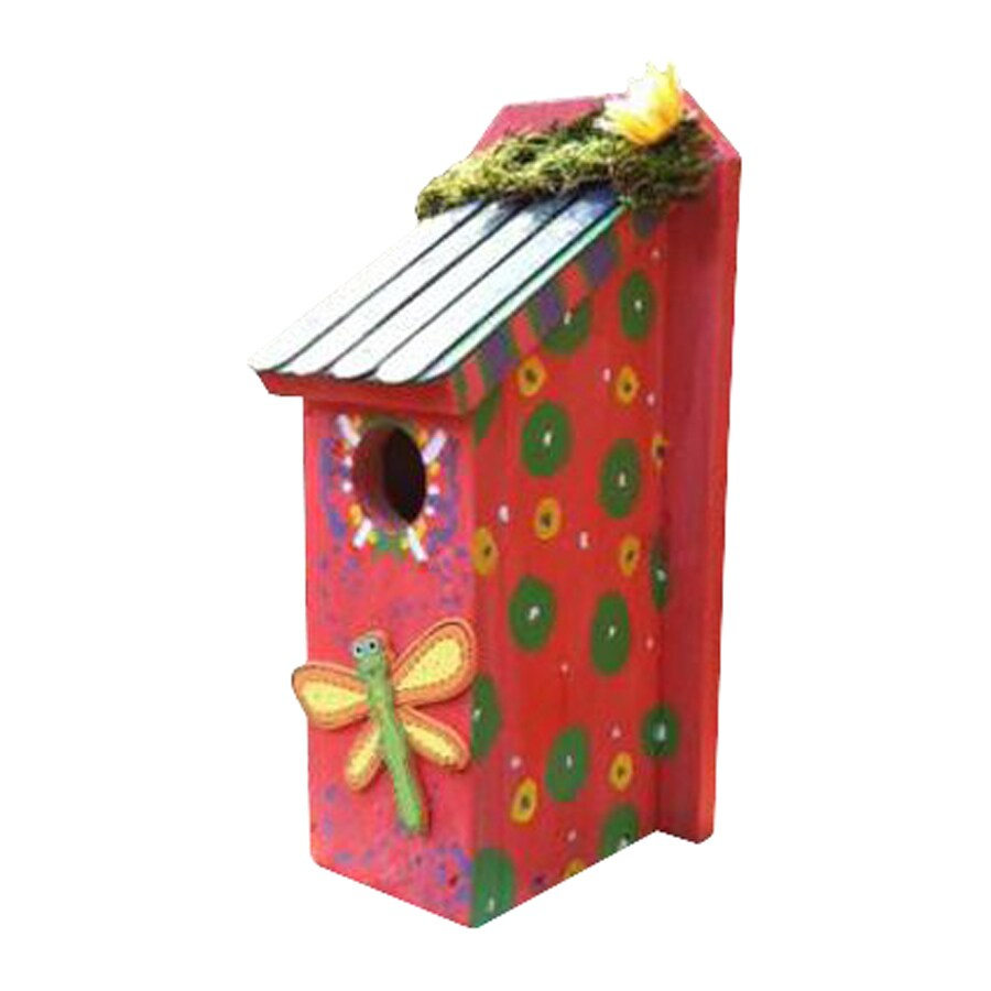 Wilderness Series Products 6-in W x 12-in H x 6-in D Coral/Multicolor Bird House