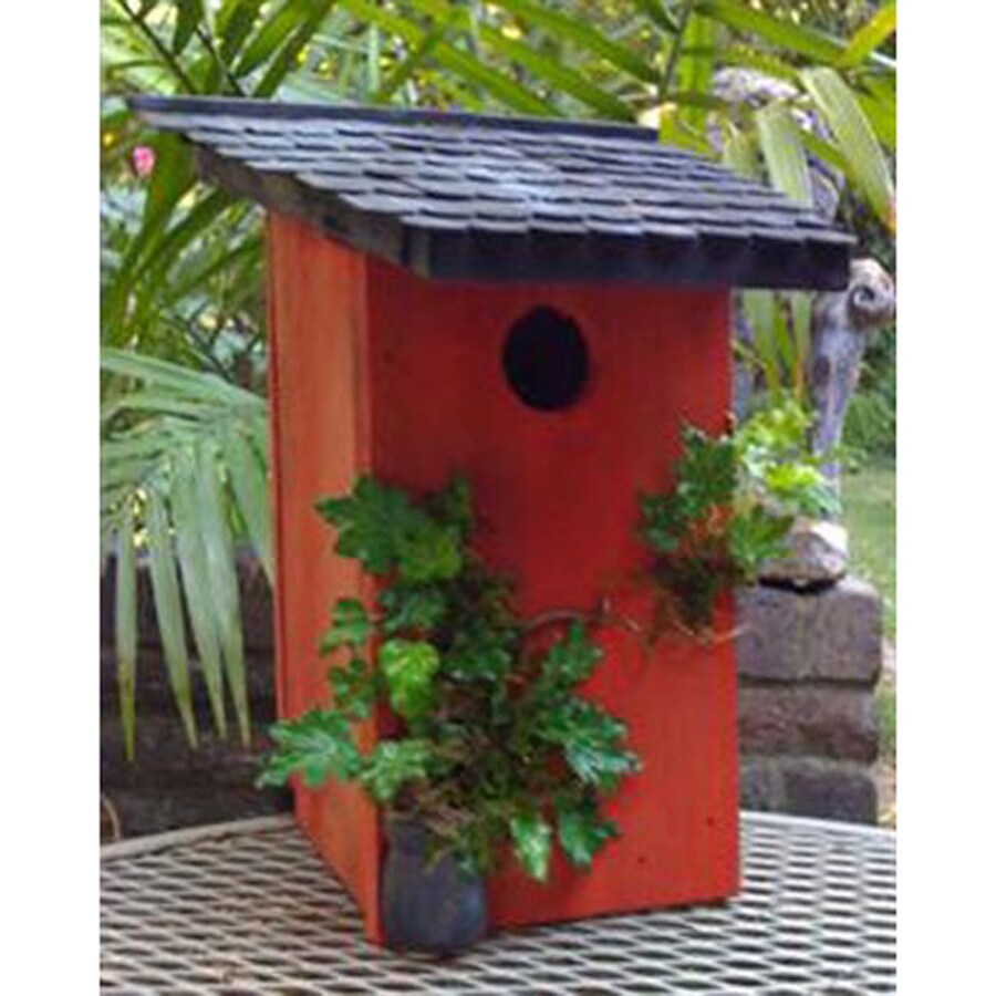 Wilderness Series Products 6-in W x 12-in H x 6-in D Red/Black Bird House