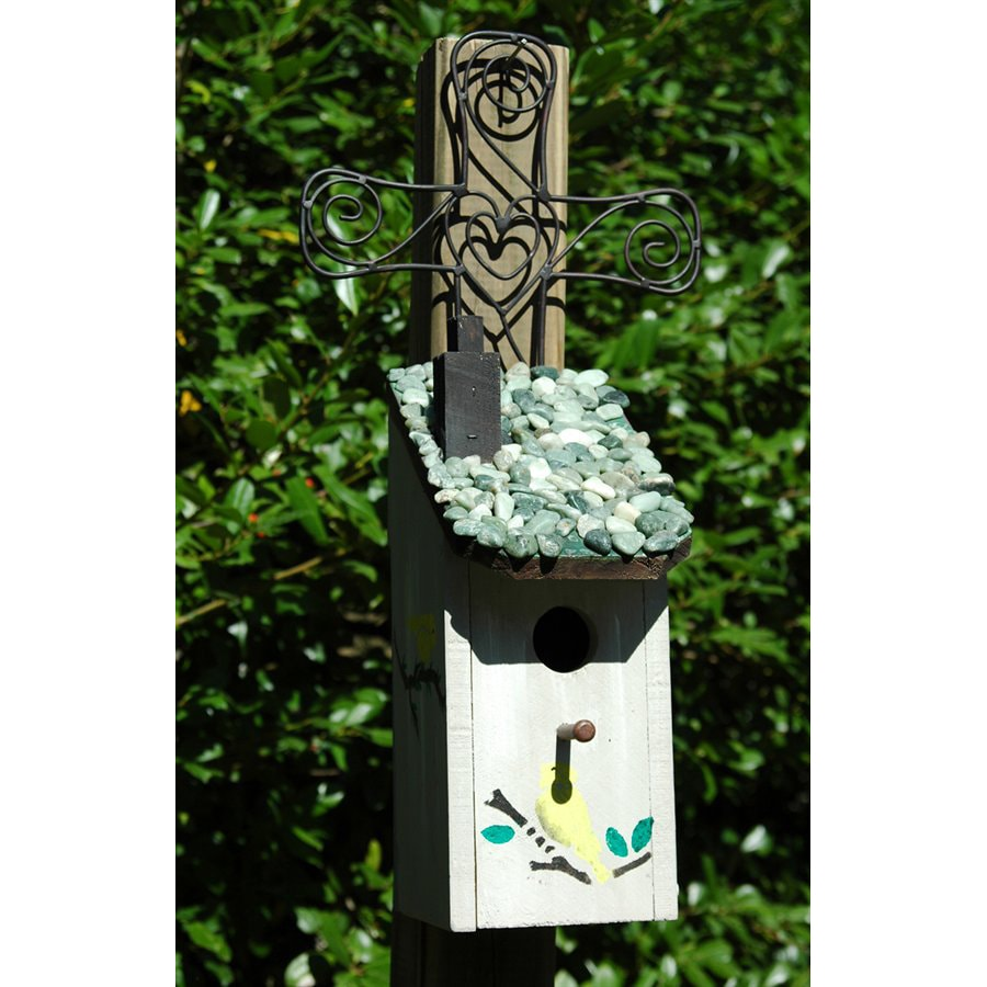 Wilderness Series Products 10-in W x 21-in H x 8-in D White/Black Bird House