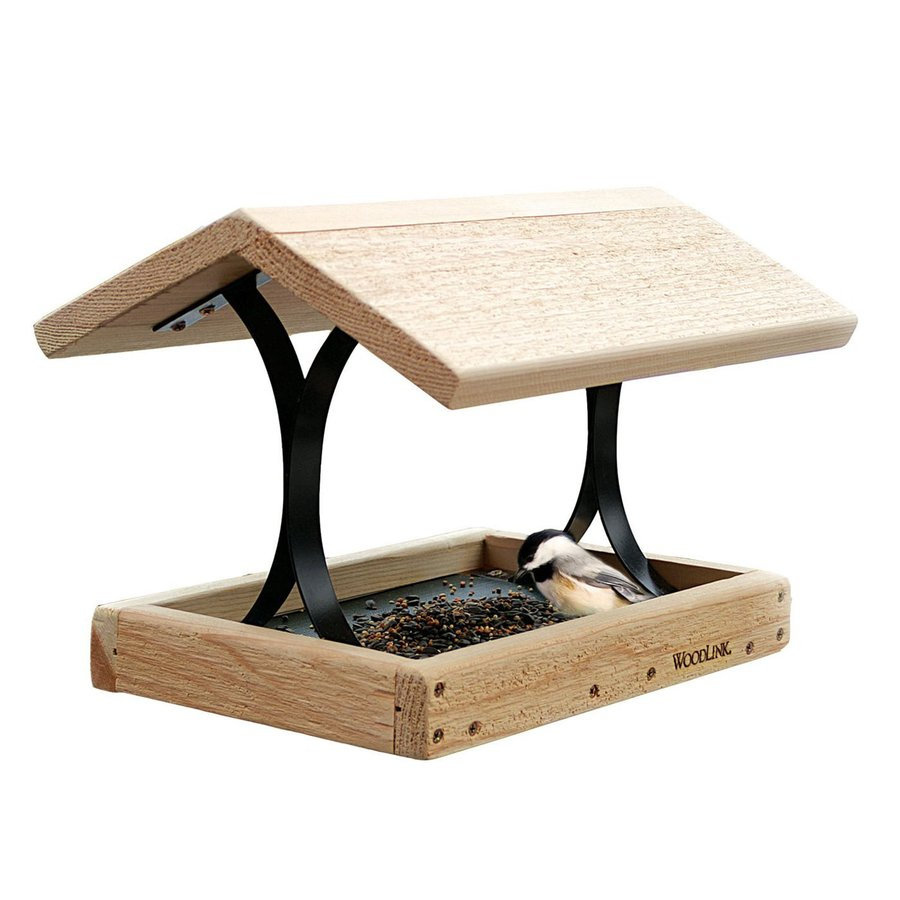 WoodLink Fly Thru Cedar Platform Bird Feeder