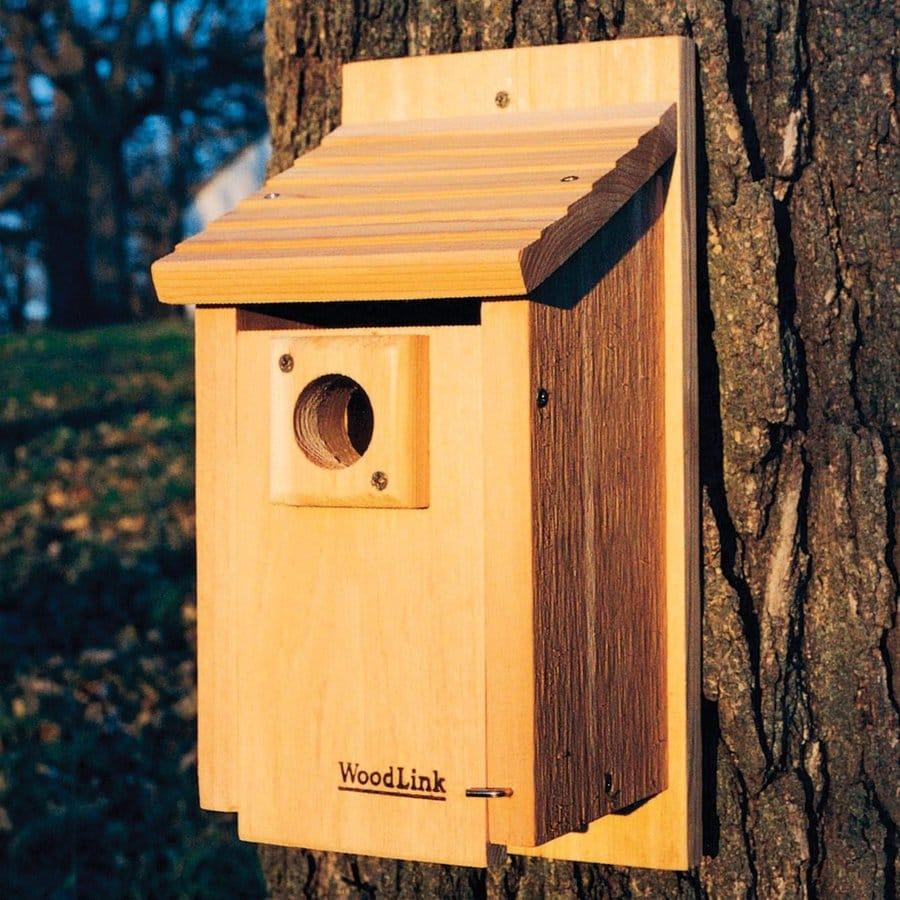 WoodLink 7.125-in W x 15-in H x 7-in D Unfinished Cedar Bird House