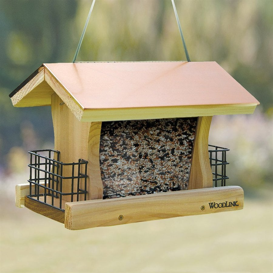 WoodLink Coppertop® Cedar Hopper Bird Feeder